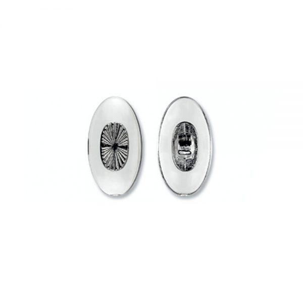 Nose Pad, Biomedical PVC w/ Silver Insert, 13 mm