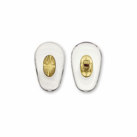 Nose Pad, Biomedical PVC w/ Gold Insert, 15 mm