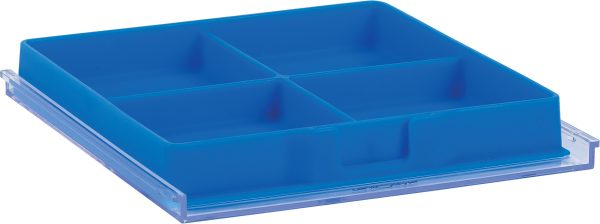 Organizational Cube Tray, 4-Compartment