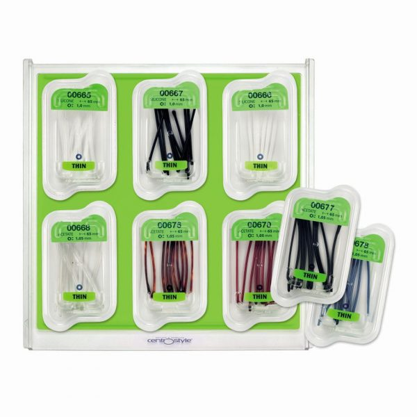 Temple Tip Kit, Ultra Thin Style, Assorted Colors on Tray