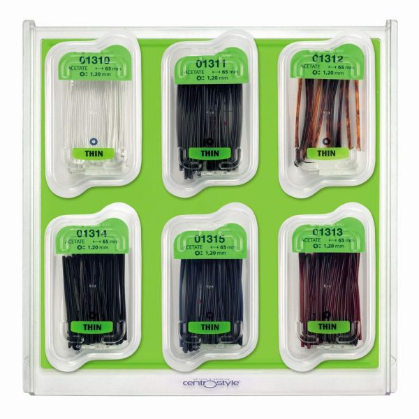 Temple Tip Set, Assorted for Rimless Frames on Tray