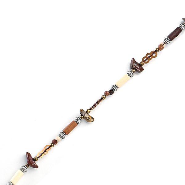 Single Chain, Wood & Beads