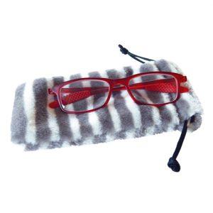 Eyeglass Case Set, Faux Fur Pouches
