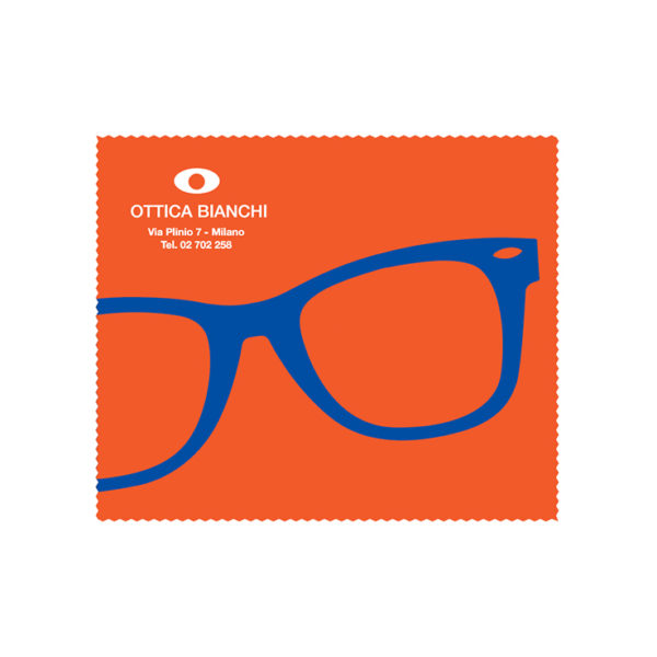 Custom Cleaning Cloth Orange Glasses