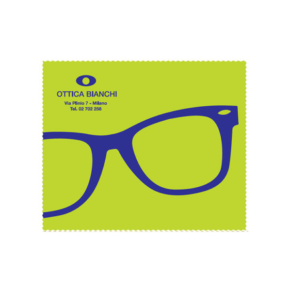 Custom Cleaning Cloth Green Glasses