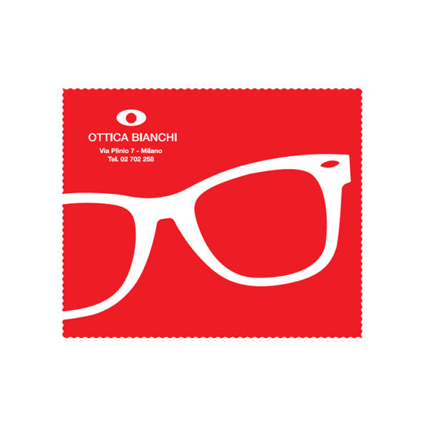 Custom Cleaning Cloth Red Glasses