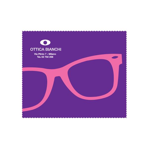 Custom Cleaning Cloth Purple Glasses