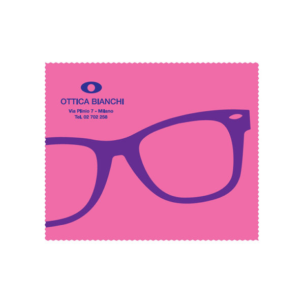 Custom Cleaning Cloth Pink Glasses