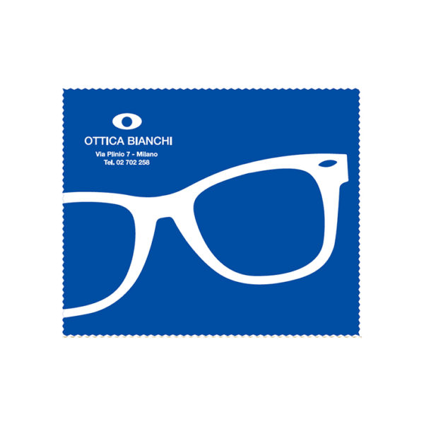 Custom Cleaning Cloth Blue Glasses