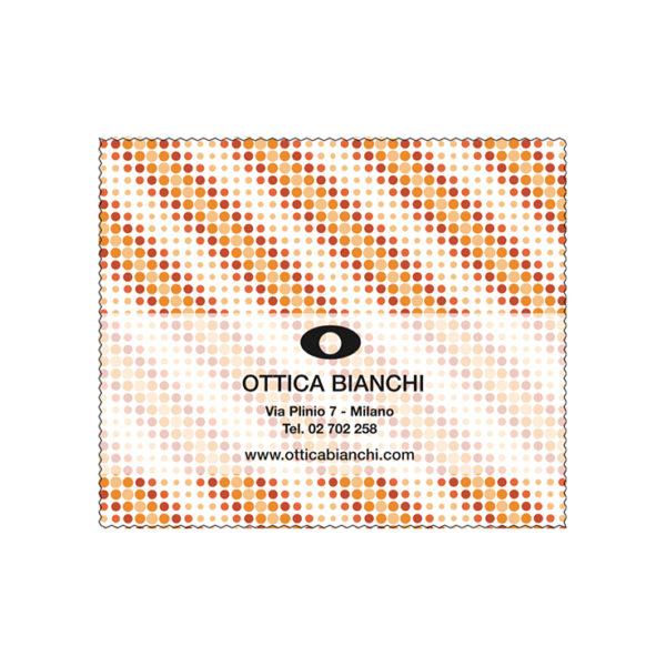 Custom Cleaning Cloth Orange Dots