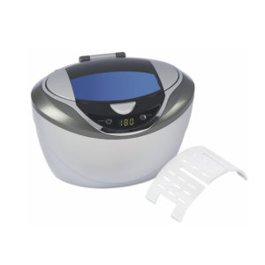 Ultrasonic Cleaner, 5-Cycle w/Auto-Stop, 600mL Stainless Tank
