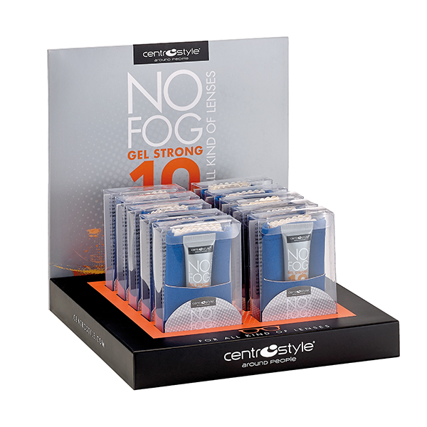 No-Fog Gel, 10g Gel & Cloth Set (10 pcs w/ Display)