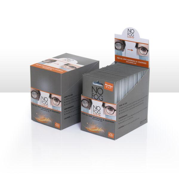 Grey Microfiber NO FOG CLOTH<sup>™</sup>, 32 pc Refill, with Auto Dispensing Box