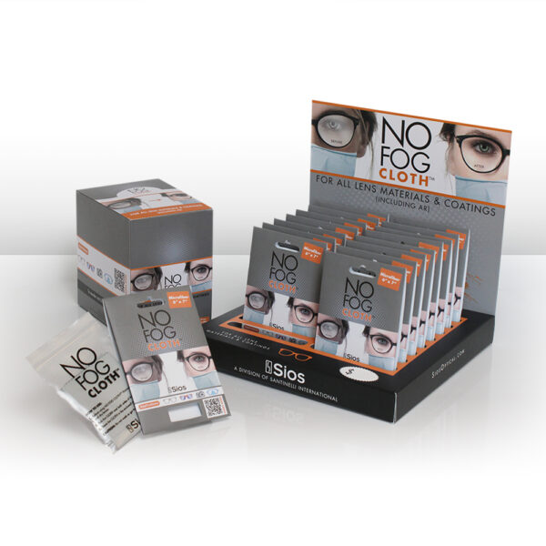 Grey Microfiber NO FOG CLOTH KIT<sup>™</sup>, 32 PCS with Deluxe P.O.P. Display