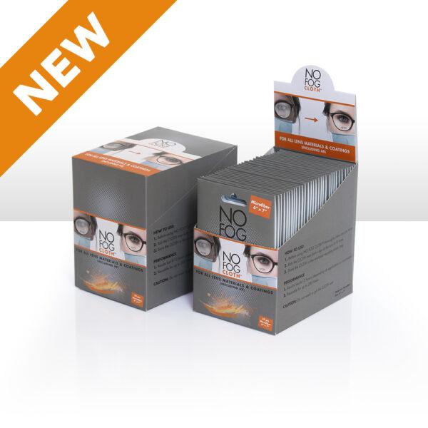White Microfiber NO FOG CLOTH<sup>™</sup>, 32 pc Refill, with Auto Dispensing Box